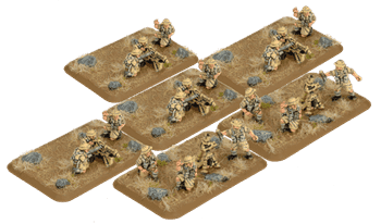 Desert Rats HMG Platoon & Mortar Section (Plastic)