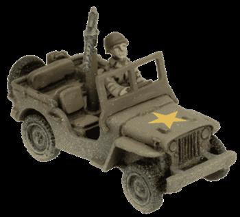 Armoured Rifle Company HQ (2x Jeeps + HQ teams)
