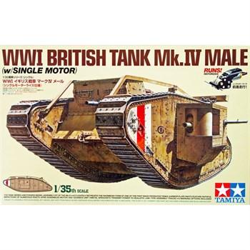 Английский танк Mk.IV Male с пятью фигурами ( набор 35339). В комплекте моторчик с редуктором. НОВИНКА!!!