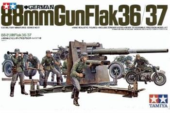 88-мм пушка 2 вар-та сборки: Gun Flak 36-противотанк. Gun Flak 37-противсамолетов  мотоциклист и 8 фигур