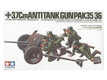 37-мм противотанковая пушка PAK35/36 с артиллерийским расчетом (4 фигуры)