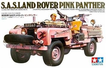 Английский джип спецназа (SAS) Land Rover Pink Panther и 1 фигура водителя