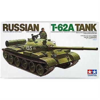 Советский танк Т-62А, 1965г., с металлической решеткой радиатора и 1 фигурой танкиста
