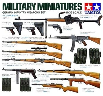 Набор вооружения немецких солдат (24 вида оружия)