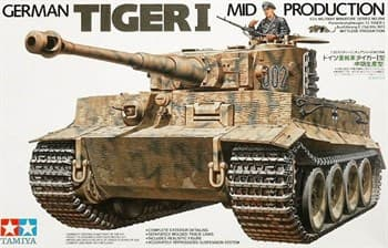 Тяжелый танк Tiger I Ausf.E mid production 1943г. c 1 фигурой командира