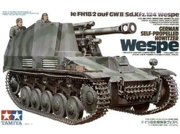 105-мм гаубица на шасси Pz-II  Sd.Kfz.124 Wespe 1943г. с 2 фигурами