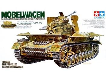 37-мм зенитная установка Flak43 на базе Pz.Kpfw.IV Mobelwagen с 1 фигурой