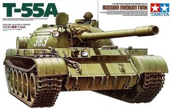 Советский танк Т-55А, с одной фигурой