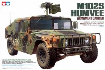 Хаммер с крупнокалиберным пулеметом (М2 или МК.19) и 2-мя фигурами (M1025 Humvee Armament Carrier)