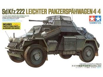 Бронеавтомобиль Sd.Kfz.222 с алюм.стволом, фототравлением, доп. бочками и канистрами, с 1 фигурой
