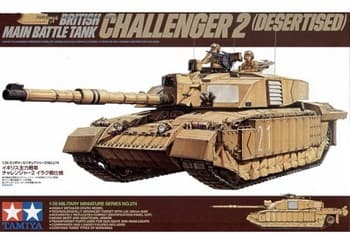Совр.англ.танк Challenger 2 (Desertised) с 2 фигурами