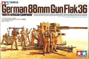 88-мм пушка  Gun Flak 36-противотанк. африканский корпус