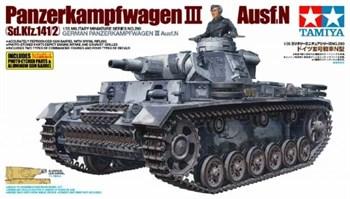 1/35 Танк Pz.Kpfw III Ausf N, c металлическим стволом, фототравлением и одной фигурой
