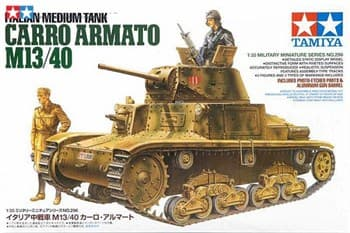 Итальянский средний танк Carro Armato M13/40, с двумя фигурами. Африканская кампания.