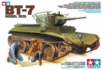 Советский танк БТ-7 (выпуск 1935 г), 2 фигуры, фототравление, наборные траки, 5 вар-тов декалей