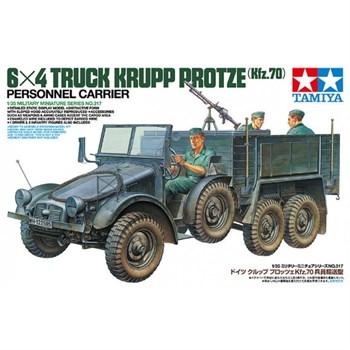 Немецкий грузовик Krupp Protze 6х4 с тремя фигурами, пулеметом MG-34, с противотанковым ружьем Pz.B.39 и ассортиметом инструментов