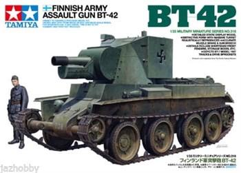 Финское штурмовое орудие БТ-42 на базе трофейного советского танка БТ-7, с набором фототравления и фигурой танкиста