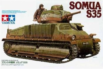 Французский средний танк SOMUA S35, с одной фигурой
