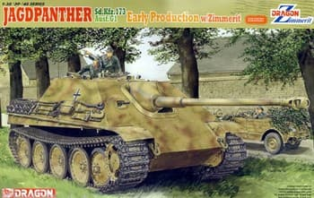 Танк 1/35 Jagdpanther Ausf.G1 Early Production W/Zimmerit