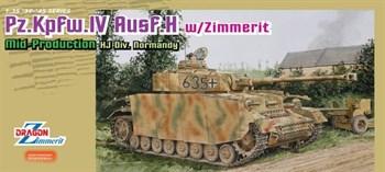 1/35 Танк Pz.Iv Ausf.H Mid С Циммеритом