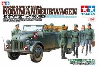 1/35 Штабная машина  Steyr Type 1500A Kommanderwagen  с 7 фигурами, можно собирать с открытыми дверями