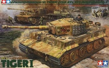 1/35 Немецкий танк Tiger I Late Version, с фигурами командира и экипажа