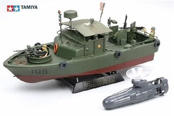 Американский водометный патрульный катер PBR31MkII PIBBER с 4 фигурами, подставкой  и подводным движителем на присоске
