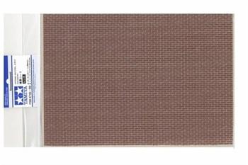 Материал для диорам на бумажной основе,  кирпичная кладка коричневая, размер А4 (297х210мм). Может краситься эмалевыми и акриловыми красками