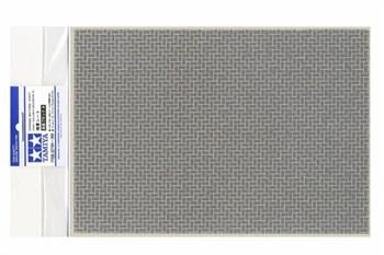Материал для диорам на бумажной основе,  кирпичная кладка серая, размер А4 (297х210мм). Может краситься эмалевыми и акриловыми красками