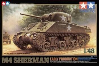 1/48 Танк  M4 Sherman (ранняя версия) с 75-мм пушкой, 3 вар-та декалей
