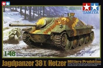 1/48 Самох. противовотанковое 75-мм орудие Hetzer (средняя версия),  3 вар-та декалей.