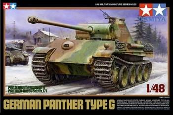 1/48 Танк  Panther G, 2 вар-та сборки-ранняя или поздняя версии,  4 вар-та декалей.