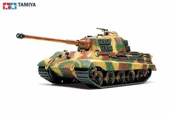 1/48 Тяжелый танк King Tiger Production Turret, металлич.шасси, 3 вар-та декалей.