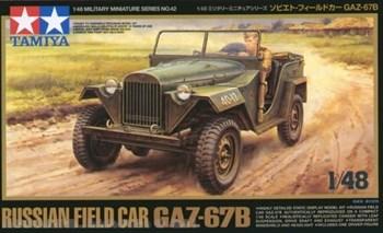 1/48 Советский военный автомобиль ГАЗ 67Б, 1 фигура водителя, 2 вар-та декалей.