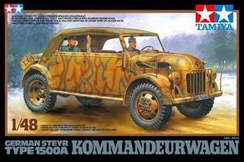 1/48 Нем. автомоб. German Steyr Type 1500A Kommandeurwagen с 2 фигурами, 3 вар-та декалей