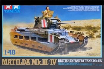 Сборная модель 1/48 Английский танк Matilda Mk.III/IV с одной фигурой Tamiya