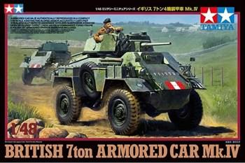 1/48 Английский бронеавтомобиль 7ton Armored Car Mk.IV с фигурой командира.