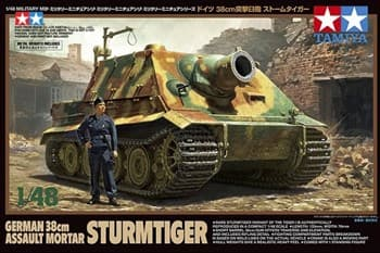 "1/48 Мортира 38см ""Sturmtiger"" с 1 фигурой"