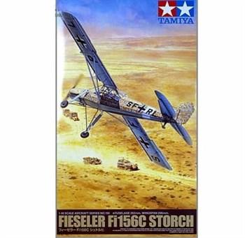 1/48 Fieseler  Fi156C Storch с набором фототр., 6 фигур с Роммелем, 5вар-тов раскраски, бочки и канистры
