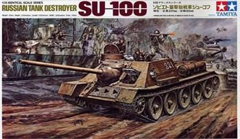 1/25 СУ-100 (сборные гусеницы, рабочая подвеска, внутрення детал.салона, 1 фигура)