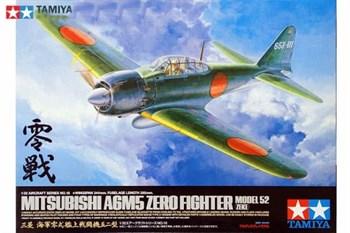 1/32 A6M5 Zero Model 52 (Zeke), фототравление, 2 фигуры пилотов, подставка