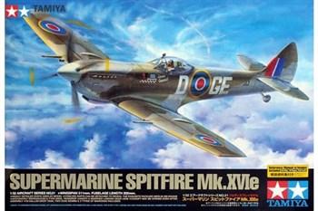 1/32 Supermarine Spitfire Mk.XVIe, с набором фототравления, 2 фигурами пилотов и подставкой