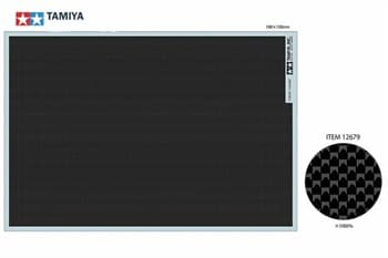 Декаль под карбон (простое плетение FINE) размер 190мм*130мм, можно использовать для моделей мотоциклов и автомобилей 1/6, 1/12, 1/20 и 1/24 масштабов  НОВИНКА!!!