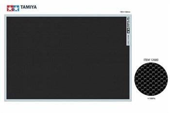 Декаль под карбон (простое плетение EXTRA FINE) размер 190мм*130мм,  можно использовать для моделей мотоциклов и автомобилей 1/6, 1/12, 1/20 и 1/24 масштабов