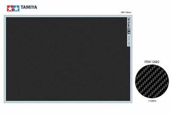Декаль под карбон (саржевое плетение EXTRA FINE) размер 190мм*130мм,  можно использовать для моделей мотоциклов и автомобилей 1/6, 1/12, 1/20 и 1/24 масштабов