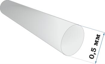 Пластиковый профиль пруток диаметр 0,5 длина 250 мм