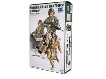 Фигуры  Modern U.S. Army Ch-47d Crew & Infantry  (1:35)