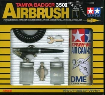 Tamiya-Badger 350 II Airbrush Set (аэрограф с баллоном сжат. воздуха 350мл.и переходником)