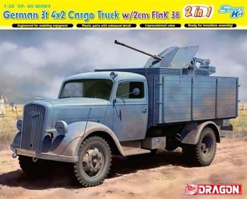 Автомобиль German 3t 4×2 Truck W/2cm Flak 38  (1:35)