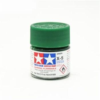 (!) Х-5 Green (Зеленая) краска акрил. 10мл.
